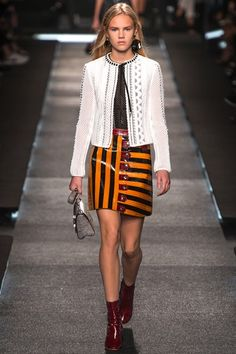 louis vuitton ss 2015  - novel approach to stripes - and rickrack curved designs featuring.
