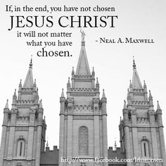 Who have you chosen?