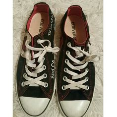 ❤SALE Twilight Themed Converse These shoes are hand painted with images from the the twilight novels! I've never even worn these out. I bought them on ebay 6 or so years ago. Converse Shoes Sneakers