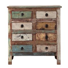 Recycled wood cabinet W 80cm