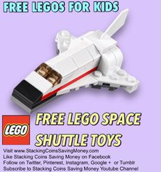 FREE Lego Space Shuttle Toys for Kids When You Join in the LEGO® Store Monthly Mini Model Build Workshop on Tuesday February 3, 2015 At 5:00 p.m. - STACKING COINS SAVING MONEY SCSM