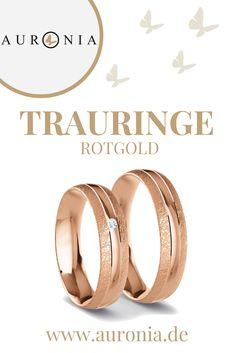 Eheringe Rotgold 333 - 0.02 ct. Diamanten - Modell Kempten