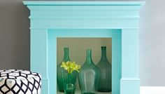 Give your mantel a makeover with colorful paint.