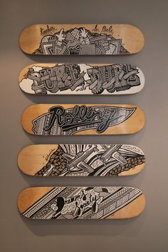 I really want to design skateboard decks and hang them in my place.