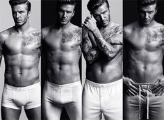 David Beckham in underwear ads. Enough said...as long as he doesn't talk, that squeaky voice!