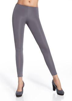29,00 € Women leggings grey satiny - Leggings satiné gris Gabi Bas Bleu   leggings  mode d9e25a88ad42