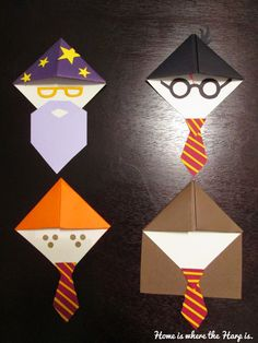 Thinking about reading the Harry Potter books again? Then, make some Harry Potter book corners! Estilo Harry Potter, Harry Potter Kostüm, Harry Potter Thema, Harry Potter Bookmark, Harry Harry, Cosplay Harry Potter, Harry Potter Enfants, Harry Potter Birthday Cards, Harry Potter Bricolage