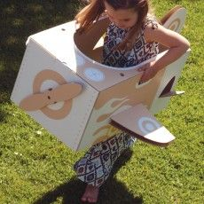 cardboard airplane or aeroplane for creative play by flatout frankie Cardboard Airplane, Cardboard Toys, Craft Activities For Kids, Crafts For Kids, Creative Play, Outdoor Fun, Little Ones, Things To Do, Airplane Kids