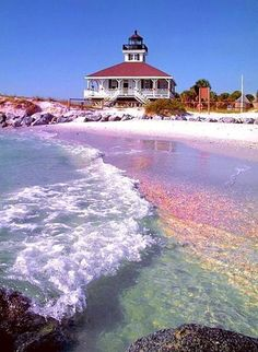 Boca Grande in Southwest Florida.... Whats up with this rainbow-tinted beach?! <3