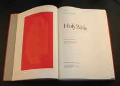 Another success came with the publication of The Washburn College Bible, This was the most gigantic and reformist reevaluation of bible typography since Gutenberg's edition. He wrote it with Jan Tschichold's typeface Sabon and he covered chapter openings with gorgeous reproductions of painting referring biblical stories.