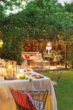 in love with romantic outdoor living under the arbor