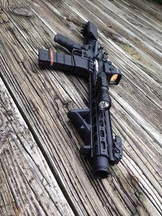 My custom built 300 Blackout Weapons Guns, Military Weapons, Guns And Ammo, Arsenal, 300 Blackout Pistol, Ar Pistol Build, Ar 15 Builds, Firearms, Tactical Rifles