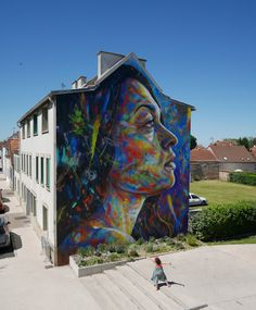 David walker in Lieusaint, France. This is one of the best street artist we know. Check out his new work! David Walker, Wall Street, Street Art Graffiti, Pitch Dark, Art Projects For Teens, Amazing Street Art, Portraits, Vintage Comics, Art Festival