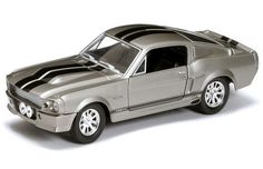 1967 Shelby GT500 Hard Top (Die Cast 1:24, Grey w/ Black Stripes) By Yatming Diecast Cars and Truck