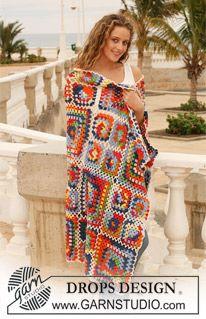 "Crochet DROPS blanket in ""Muskat Soft"". ~ DROPS Design"