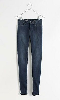 Madewell legging jeans in arctic blue.