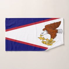 #Hand Towel with Flag of American Samoa USA - #trendy #gifts #template