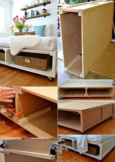bett selber bauen f r ein individuelles schlafzimmer design diy bett mit stauraum martin. Black Bedroom Furniture Sets. Home Design Ideas