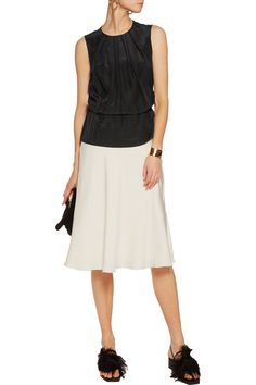 Love this by EMILIO PUCCI Pleated silk-satin top - $292 (55%Off)