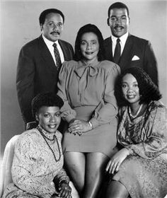 "Coretta Scott King (1927 - 2006), center, poses with her children, clockwise from top left: Martin Luther King III, Dexter Scott King, Yolanda King (1955 - 2007) and Bernice King. After her husband's assassination in 1968, King raised their children alone and carried on the fight for civil rights, hailed by many as the ""first lady of the civil rights movement."" (Getty Images / Gado / Afro American Newspapers)"