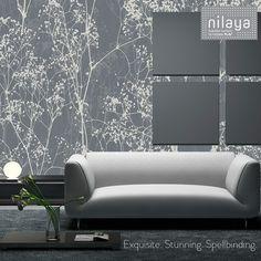 Your home your way! #Nilaya #Textures #Grey #HomeDecor #Walls #WallCovering #Interior #Beautiful