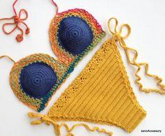Bikini Set Crochet Bikini Top Bikini Bottom 2015 Swimwear Summer Fashion Spring Gypsy Boho Top Festival Beach senoAccessory