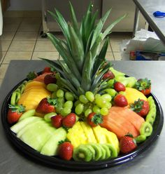 Fruit Tray Ideas | TRAY: On a large tray, arrange the fruit in an artistic . FRUIT TRAY ...