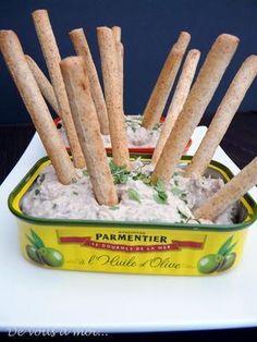 De vous à moi...: Mousse de sardines (sardine/chèvre frais/jus de citron/sel,poivre)