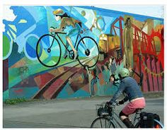 Image result for murals along bike paths