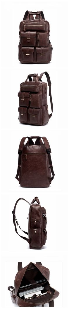 b48f4a889fb Leather Backpack Laptop Backpack Laptop Bags Vintage Leather Backpack,  Leather Laptop Backpack, Laptop Bags
