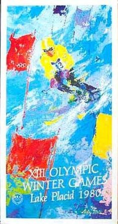 OLYMPICS - LAKE PLACID 1985 - SLALOM by LEROY NEIMAN