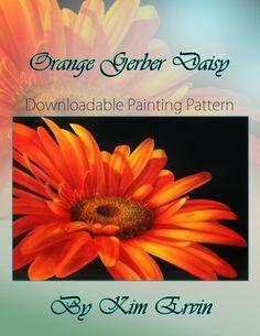 Art Apprentice Online - Downloadable Painting Pattern - Orange Gerber Daisy - Acrylic - Kim Ervin, $9.95 (http://store.artapprenticeonline.com/downloadable-painting-pattern-orange-gerber-daisy-acrylic-kim-ervin/)