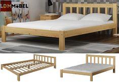 Starke, stabile Struktur und modernes, modisches Design - das zeichnet unser Bett aus.    #Bett #Kiefernholz #Komfortbett #Bettgestell #Ehebett #Gästebet