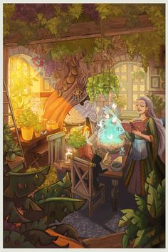 Sandy Vazan Illustration Witch Cottage, Cottage Art, Photo And Video, Illustration, Painting, Fictional Characters, Instagram, Witch House, Painting Art