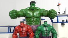 Green hulk turns to super Hulk battle Thanos with Red hulk 绿色浩克变身超级浩克与红色...