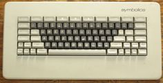 Keyboard for a Symbolics 3600 lisp machine. From the collection of the RCS/RI.