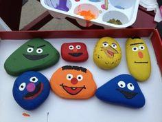 Rock Painting! Sesame Street Rocks...
