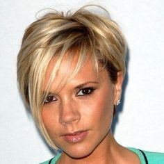 c8994f3169 Victoria Beckham stunned with this blonde roughly cut 'do at the beginning  of May in
