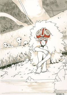 Princess Mononoke by Bengal *