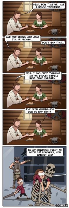 Lol Skyrim kids.