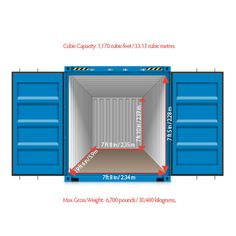 shipping container 20ft internal dimensions.                              …