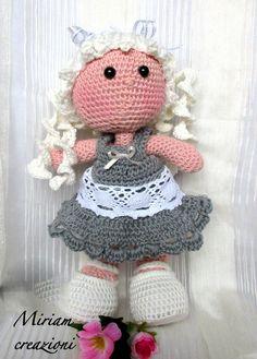 Bambola Amigurmi con treccine, by vetrina miriam chiocciola, 25,00 € su misshobby.com