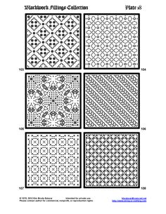 Black work fill in patterns