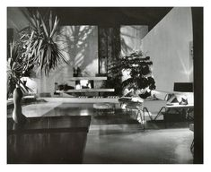 Julius Shulman photo of A. Quincy Jones House with Billy Haines decor