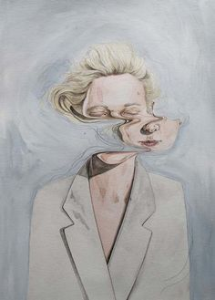 I like the idea of face distortion in paintings