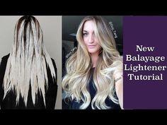 New Balayage Lightener Tutorial - YouTube