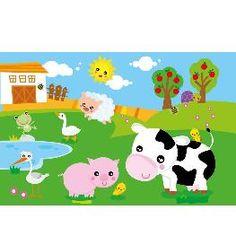 Animal Wall Mural- Farm Animals Kids Wall Murals, Mural Wall, Animal 2, Farm Animals, Nursery Decor, Wallpaper Murals, Sunflowers, Children, Decorating