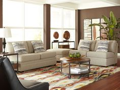 Give your home a boost with the Ballard with Dane living room. This attractive room takes the stylish and comfortable Ballard sofa, and pairs it with the elegant Dane collection. A match made in classy heaven! Rent this room from CORT, and it will surely be one of your favorite places to kick back and relax.