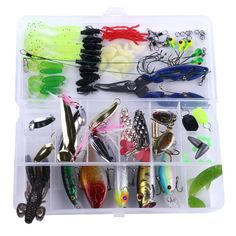 This tackle box is perfect for freshwater or saltwater fishing. 5 Jig Hook Always keep your fishing essentials on hand with this 110 piece kit!