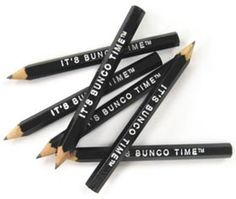 Bunco Time pencils///  $1.50/6 pencils